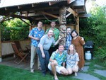 The whole Seattle tribe +Oaktiki that made the backyard get together.