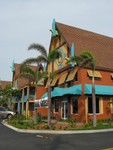 """The Wakulla Suites hotel in Coco Beach- a nifty older hotel that's been redone """"polynesian"""". There are apparently a few Mai Tiki Tikis on the grounds (interior courtyard gardens) but they self define as themselves as Polynesian, not Tiki. See http://www.wakullasuites.com/"""