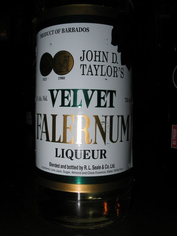 My first taste of the non syrup version of falernum- wow! Gotta find that!