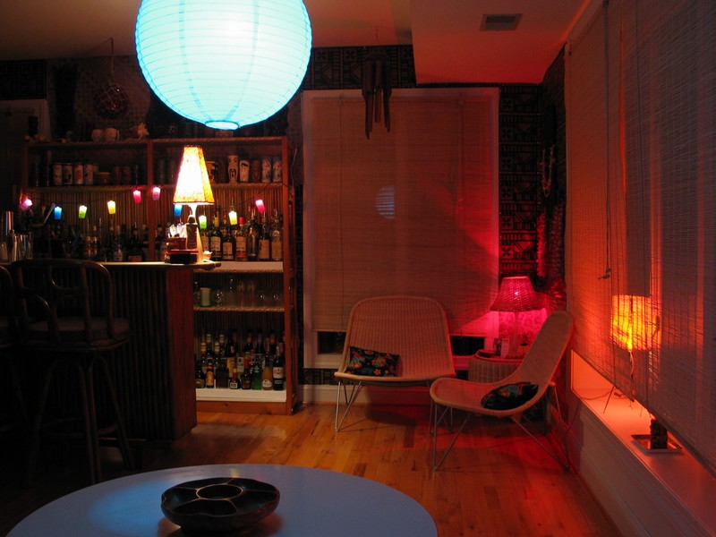 I kind of like the way the blue ball lamp reflects in the window, making it appear there must be a blue moon outside.