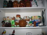 Bowls galore, and the Maori doll brought back by a special friend!