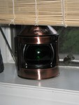Our New Starboard lamp from Oceanic Arts. We have the Port light (red) as well.