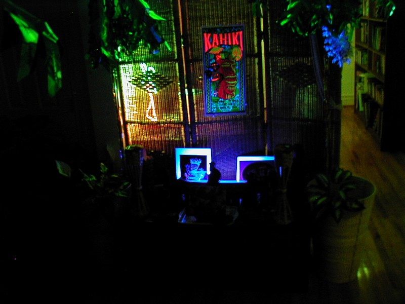 A shrine in the indoor gardens, the way it's really lit.