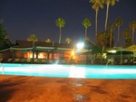 Playing with the exposure- another look back across the pool at the Reef.