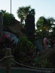 The large iconic Tiki at the front of both courses, (there are two which are interwoven).