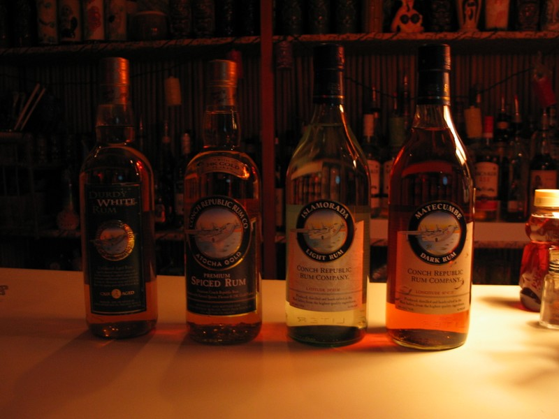 Cruzan's Conch Republic Rums (from Key West, obviously!)