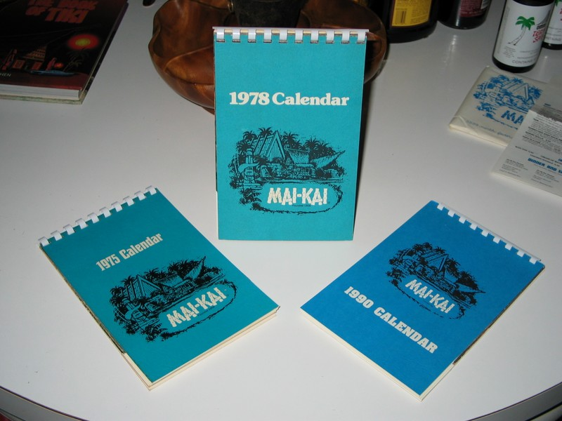 My (very late) collection of Mai Kai annual Calendars.