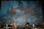 One of the first things you notice in the private room is the huge undersea mural, complete with a Honu!